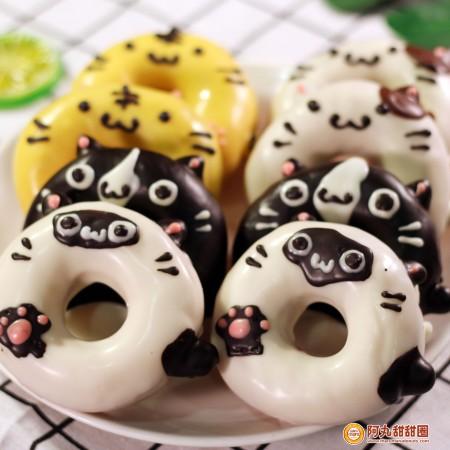 萌貓派對-貓咪動物甜甜圈禮盒8入/婚禮小物生日禮物下午茶團購美食阿丸甜甜圈