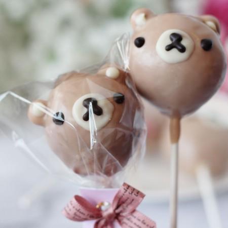 小熊造型棒棒糖