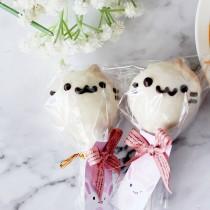 【阿丸甜甜圈】小花貓丸子動物造型棒棒糖-白巧+牛奶巧克力口味 10支入婚禮小物,二次進場,情人禮,送客禮