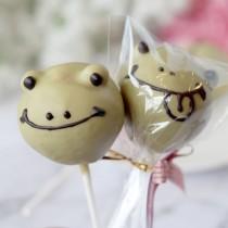 【阿丸甜甜圈】青蛙丸子動物造型棒棒糖-抹茶巧克力口味 10支入婚禮小物,二次進場,情人禮,送客禮